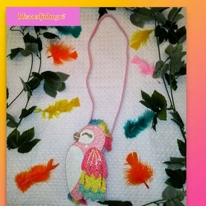 The Children's Place, NWT, Girl, Bag, Pink, Parrot